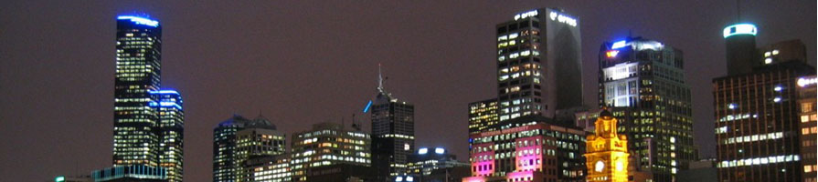 Melbourne Australia at Night
